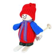 Tomte Boy Santa on Skis (20316)