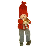 Tomte-Santa Boy w/cookies - Shelf Sitter (20413)