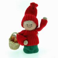 Tomte Santa Girl w/ Basket of Wood (21104)