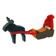 Tomte Boy in Shoe with Moose (21112)