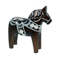 "Swedish Wooden Dala Horse - Pepparkakor - 4"" (SDH4PEP)"