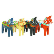 "Swedish Wooden Dala Horse - 6"" (SDH6)"