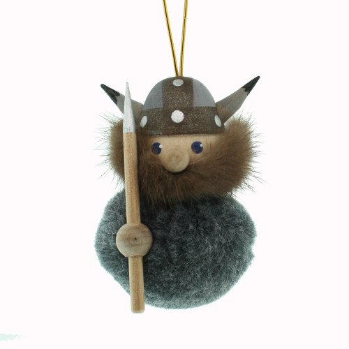 Viking Ornament - Charcoal Grey w/Fleece/Fur Body (26241)
