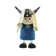 Viking Women w/Cleaver and Rolling Pin - Wooden - 4 inches Tall (26294)
