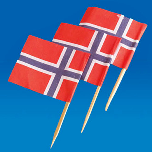 Norway Flag Toothpicks - 50-pack (5521)
