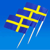 Sweden Flag Toothpicks - 50-pack (5522)