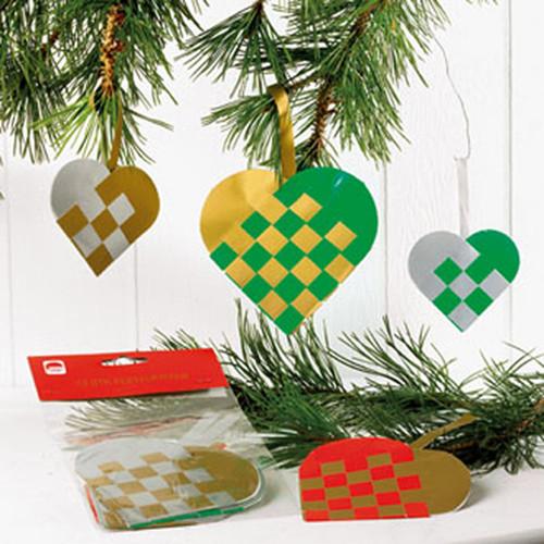Heart Basket Ornaments - 12-pack (5538)