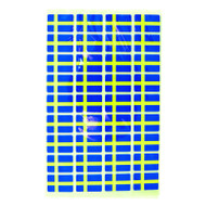 Sweden Flag Stickers - Pack of 72 (5928)