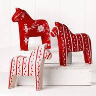 Wooden Dala Horses - Set of 3 (7296)