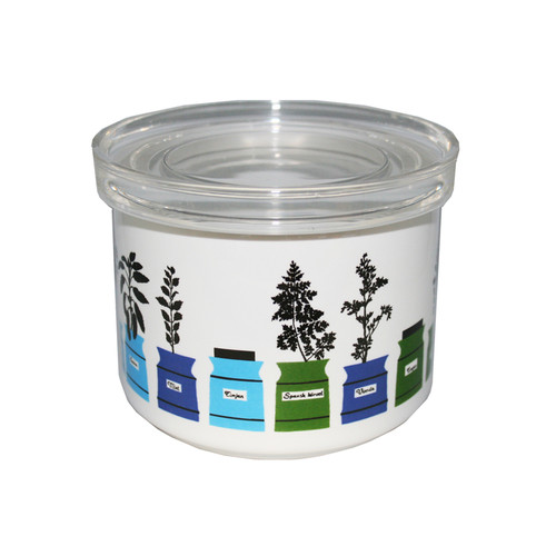 Spice & Herb Porcelain Jar w/Cover (70534)