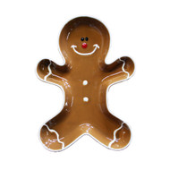 "Gingerbread Man Bowl - Stoneware by Sagaform Sweden - 6 1/4"" x 5 1/2"" x 1 3/4"" (5017281)"