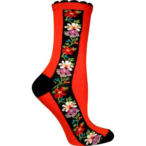 Women's Nordic Stripe Ozone Socks - Red