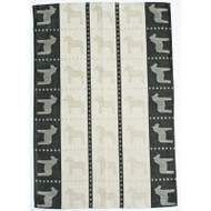 Dala Horse Kitchen Towel - Black (345-04)