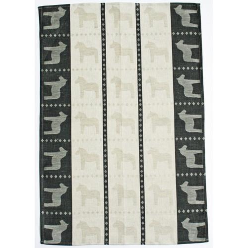 Dala Horse Kitchen Towel - Black (345-04)