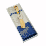 Moose Towel & Butterknife Gift Set - Blue (346-03)