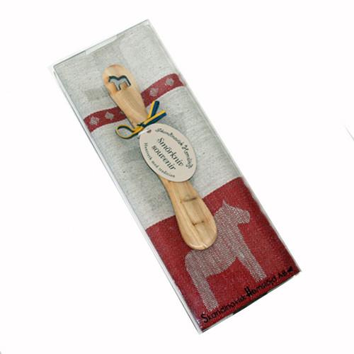 Dala Horse Towel & Butterknife Gift Set - Red (346-05)