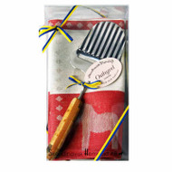 Dala Horse Towel & Cheese Slicer Gift Set - Red (699-06)