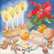 Festive Table Christmas Card (A135)