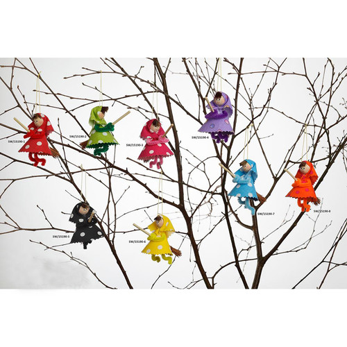 Easter Witch Ornament - 8 Colors To Choose From... (15190)