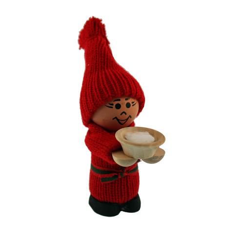 Tomte Boy with Wooden Bowl of Porridge (21125)