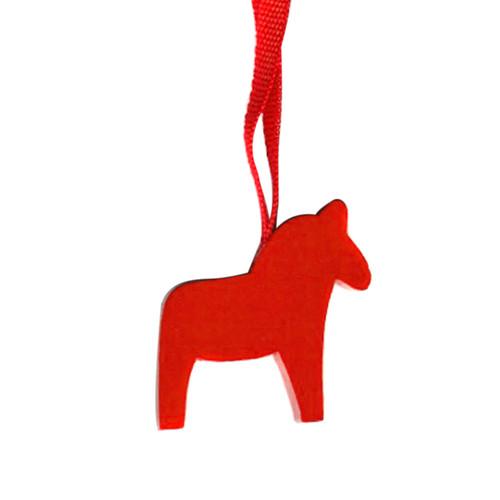 Dala Horse Ornament - Wooden - 10 Pack (44132)