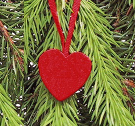 Heart Ornament - Wooden - Pack of 10 (44316)