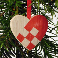 Heart Basket Ornament - Wooden (44702)