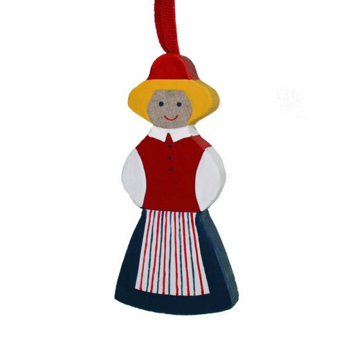 Swedish Woman Ornament - Wooden (45727)