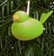 Spring Green Bird Wooden Tree Ornament (44182G)