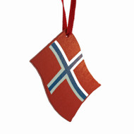 Norway Flag Ornament - Wooden (44593N)