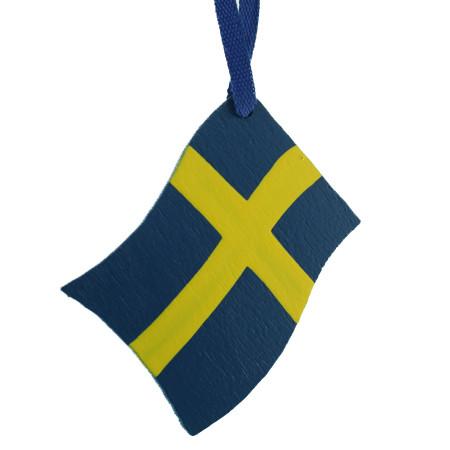 Sweden Flag Ornament - Wooden (44593S)