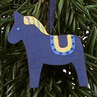 Dala Horse Ornament - Blue (44708B)