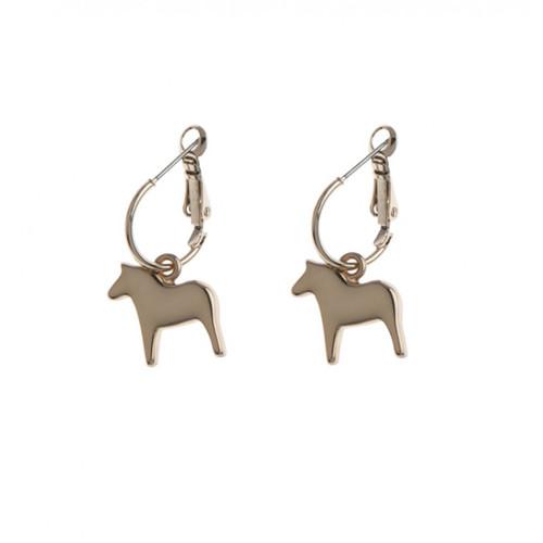 Dala Horse Round Earrings - Rose (62918)