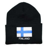 Finland Flag Knit Hat/Winter Cap - One Size Fits All (KC-F)