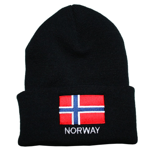 Norway Flag Knit Hat/Winter Cap - One Size Fits All (KC-N)