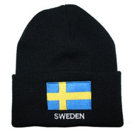 Sweden Flag Knit Hat/Winter Cap - One Size Fits All