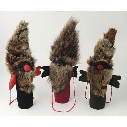 Bottle Bag - Santa Fur - Black (BB017-1)