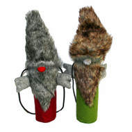 Bottle Bag - Santa Fur - Green (BB017-2)