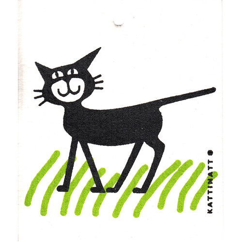 Swedish Dishcloth - Cat in the Grass (56101)