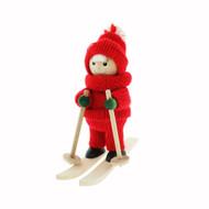 Tomte-Santa Boy on Skis (26125B)