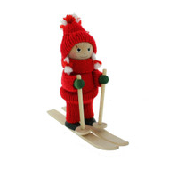 Tomte-Santa Girl on Skis (26125G)