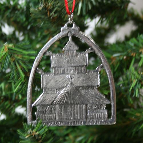 Norwegian Pewter Ornament - Stav Church (78-2127)