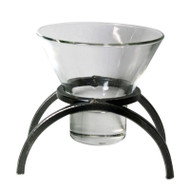 Iron Candleholder w/Glass Cup - Arch (91-1095)
