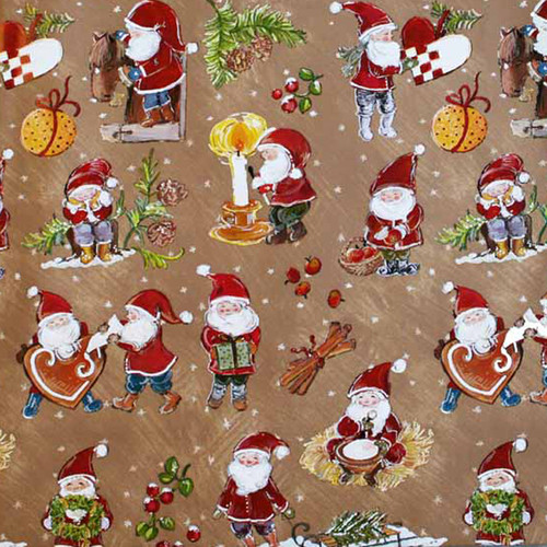 "Wrapping Paper - Heart/Baskets & Santa-Tomte 23"" x 72"" (3373)"