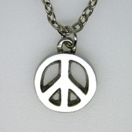 Peace Sign Pendant - Pewter (5027)