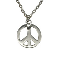 Peace Sign Pewter Pendant (5030)