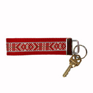Key Fob Fabric Keychain - Nordic (1018L-RED)