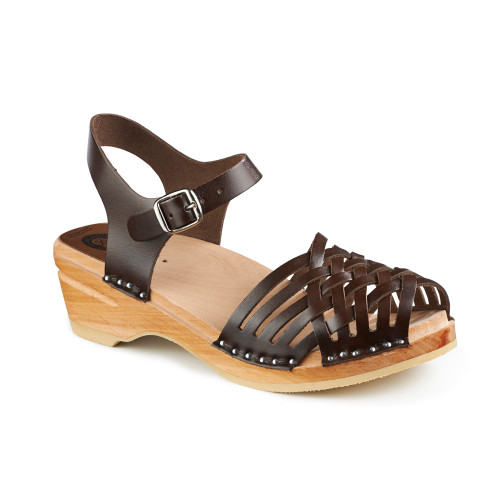 Anna Clog-Sandals in Cola Brown - Women's - Original Sole Collection (066-017)