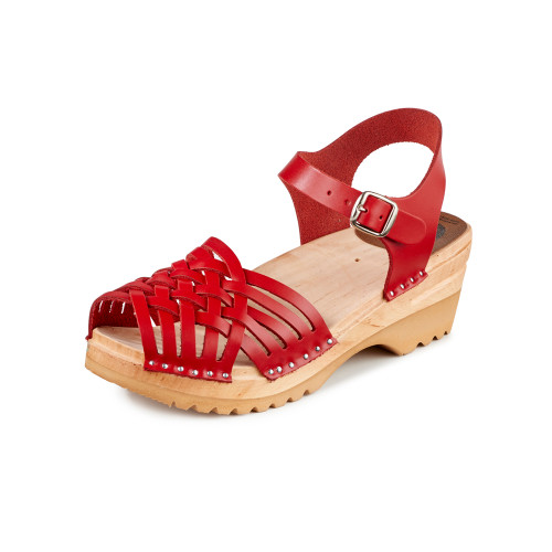Anna Clog-Sandals in Red - Women's (066-036)