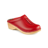 Wright Clogs in Red - Original Sole Collection (166-036)